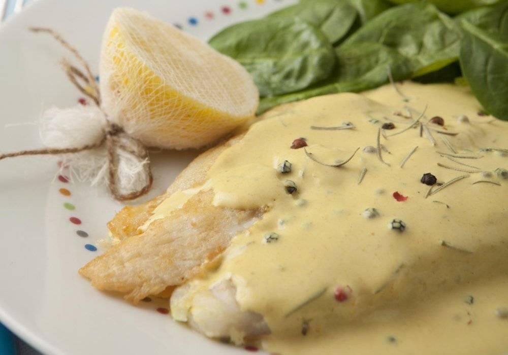 Блюдо с постным соусом