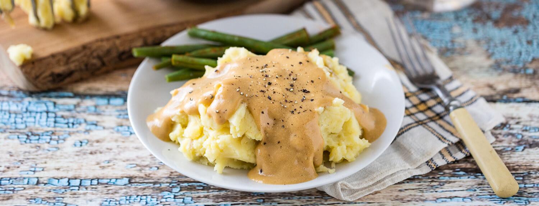 Картофель с подливой